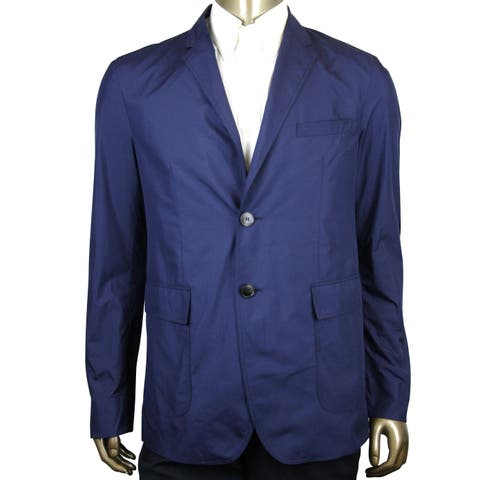 Gucci Light Weight Navy Blue Polyester Techno Jacket 352983 4379