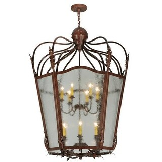 2nd Ave Lighting 214817.1 12 Light Citadel Foyer Lanterns - Rusty Nail