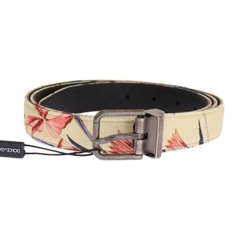 Dolce & Gabbana Beige Denim Leather Belt