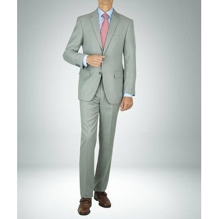 Link to Carlo Studio Sharkskin Light Grey Modern-Fit Suit Similar Items in Suits & Suit Separates