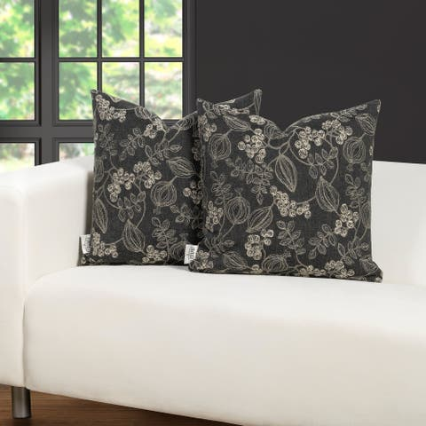 F. Scott Fitzgerald Whymsical Blooms Throw Pillow