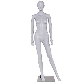 Costway Female Mannequin Full Body PP Realistic Display Dress Form Display w/ Base New
