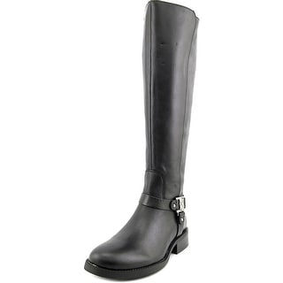 Vince Camuto Farren 2 Wide Calf Women Round Toe Leather Black Knee High Boot