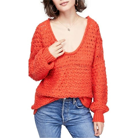 Free People Womens Knit Pullover Sweater