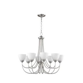 "Quorum International 6050-8 Brooks 8 Light 32"" Wide Single Tier Chandelier with Glass Shades"