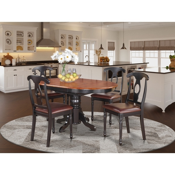 5-piece Oval Dining Table and 4 Dining Chairs. Opens flyout.