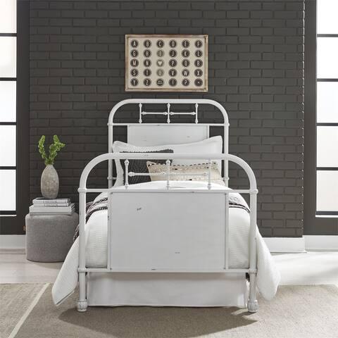 Carbon Loft Cauthen Antique White Full Metal Bed
