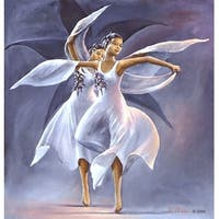 ''The Black Orchids (mini)'' by Lavarne Ross African American Art Print (8 x 6.5 in.)