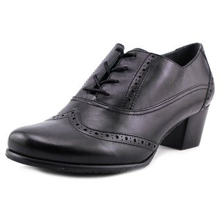 Ros Hommerson Addison Women SS Wingtip Toe Leather Black Oxford