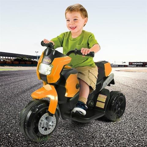 12V children's three-wheel mountain motorcycle-orange
