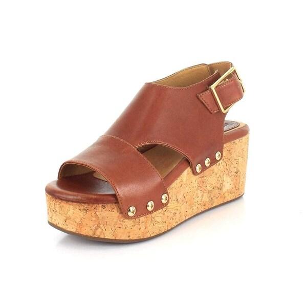 BUSSOLA Womens Maggie Open Toe Casual Platform Sandals