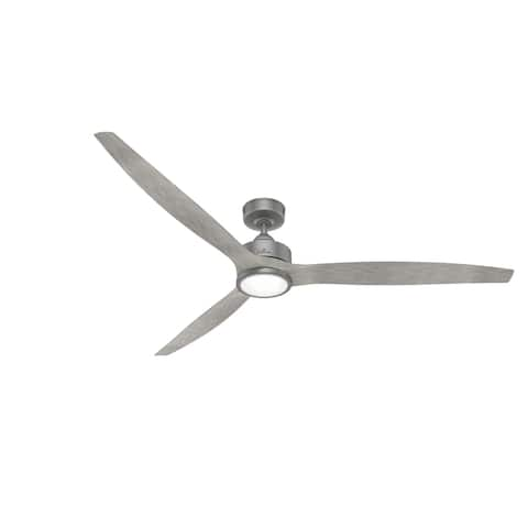 """Hunter 72"""" Park View Outdoor Ceiling Fan w/ LED Light Kit, Remote, Damp Rated"""