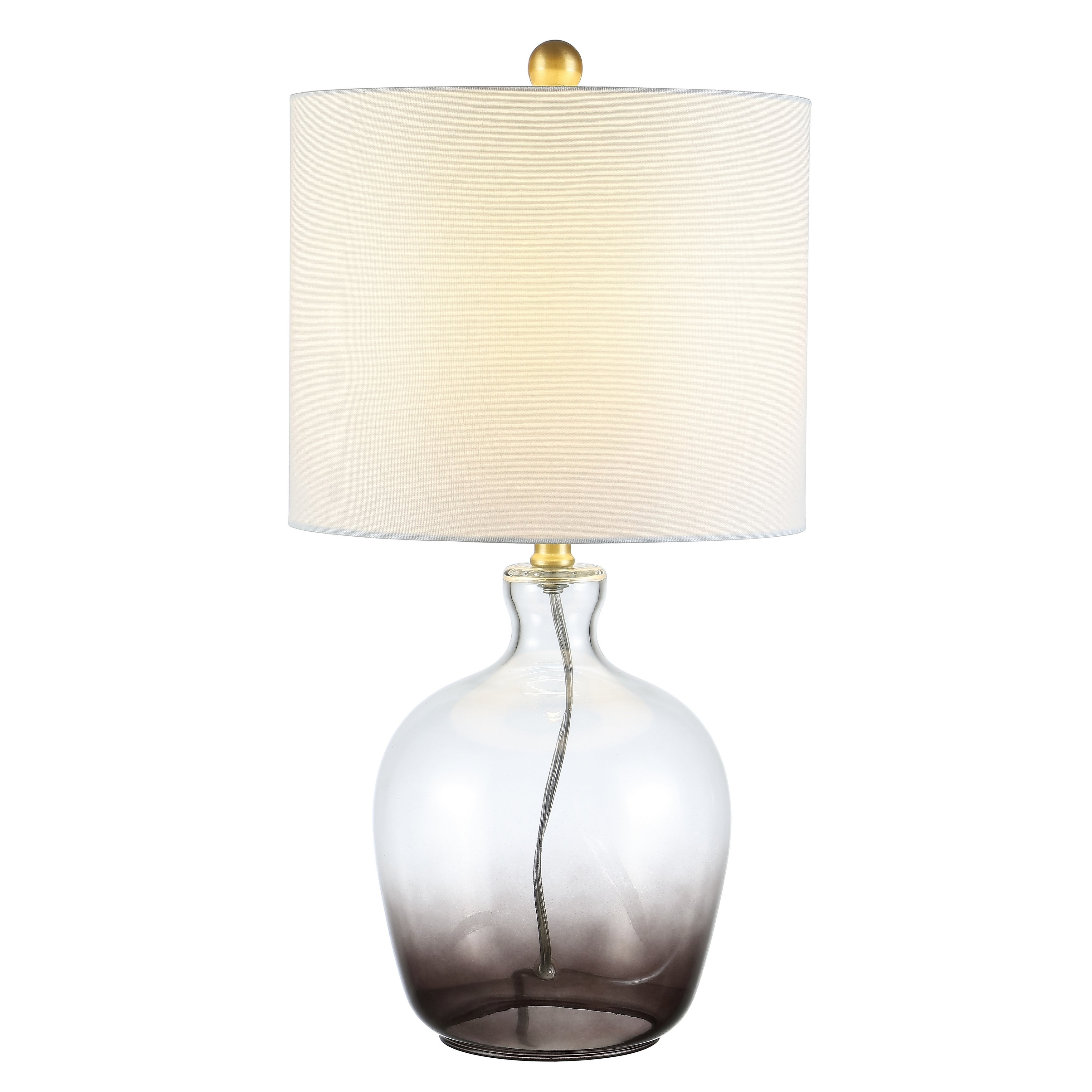 SAFAVIEH Lighting 12 inch Remzi Ombre Grey LED Table Lamp   12