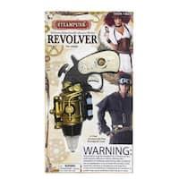 Steampunk Revolver Costume Weapon Accessory - Black
