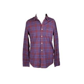 Volcom Wine Blue Grid Colton Shirt XL