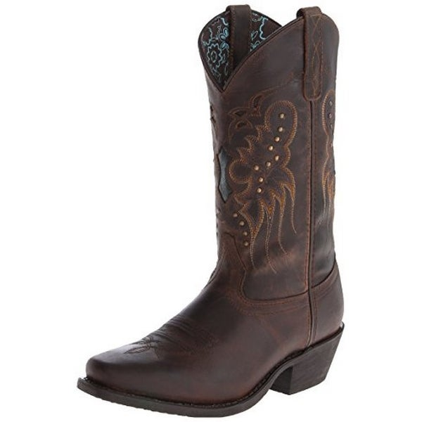 Laredo Women's Cora Western Boot, Brandy, 7 M Us