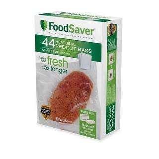 "Foodsaver  FSFSBF0226-P00 Heat Seal Bags, 8"" x 11"", 44 Count, Quart"