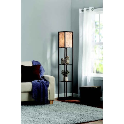 Adesso Script Floor Lamp Shelf