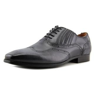 Steve Madden Masque Men  Wingtip Toe Leather Gray Oxford