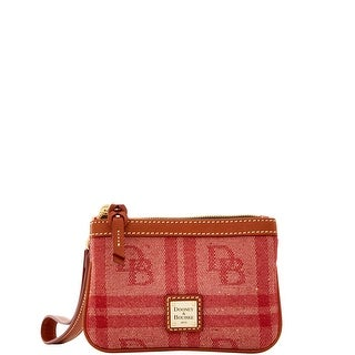Dooney & Bourke DB Plaid Jacquard Medium Wristlet (Introduced by Dooney & Bourke at $58 in Jul 2016) - Red