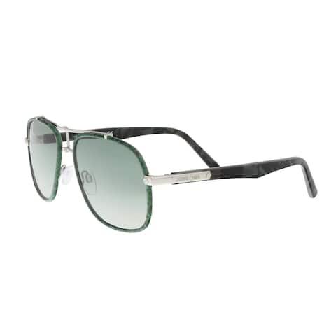 Roberto Cavalli RC1043 16P CETONA Green Square Sunglasses - 56-17-145