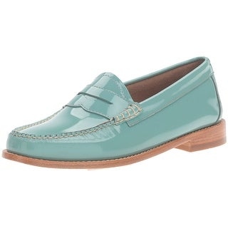 G.H. Bass & Co. Womens Whitney Leather Closed Toe Loafers Loafers