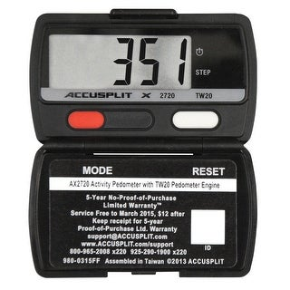 Accusplit AX2720 Ultra Thin Pedometer