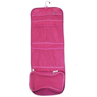 Unique Bargains Travel Toiletry Toiletries Cosmetic Makeup Beauty Hanging  Foldable Wash Bag Fuchsia
