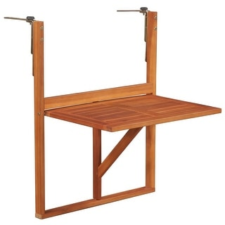 vidaXL Balcony Table Solid Acacia Wood Brown