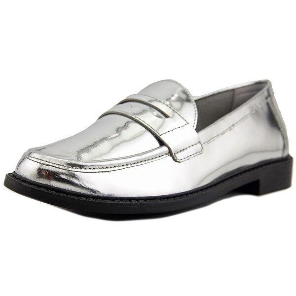 b06205900b9 Cole Haan Pinch Campus Hand-Stained Penny Women Patent Leather Silver Loafer