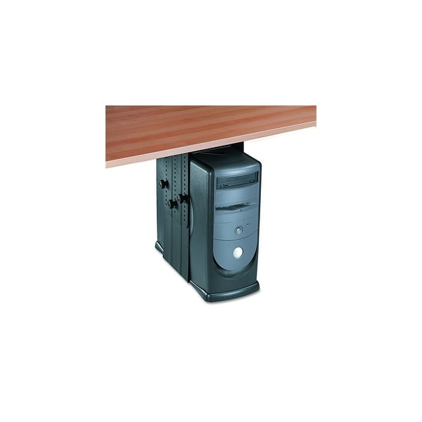 Fellowes Inc. Under Desk CPU Holder, Black Under Desk CPU Holder, 17w x 12d x 11h, Black