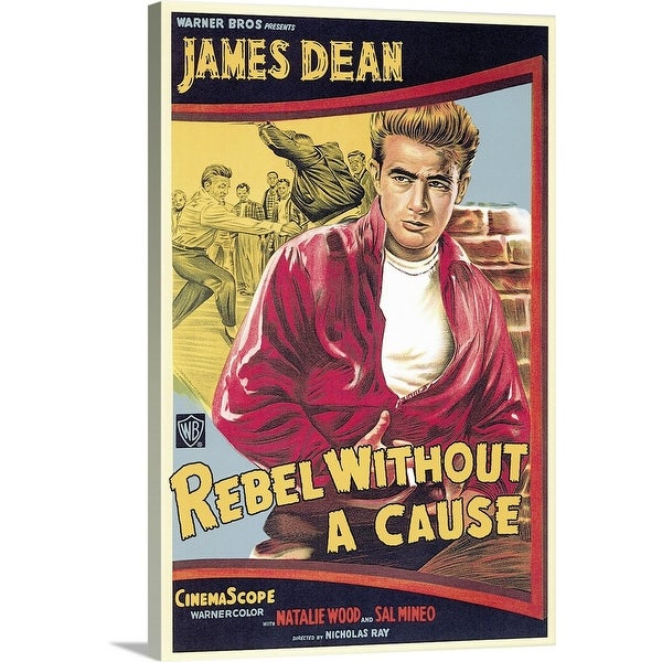 """Rebel Without a Cause (1955)"" Canvas Wall Art"