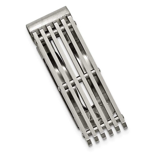 Chisel Brushed Stainless Steel Money Clip