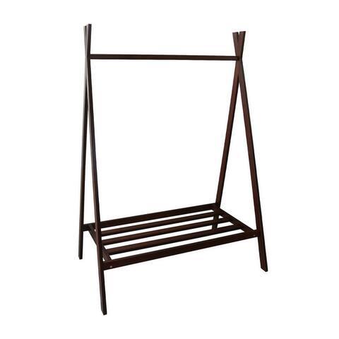 "Teepee Coat Rack with Shelf - Truffle Brown - 38""W x 24""D x 61""H"