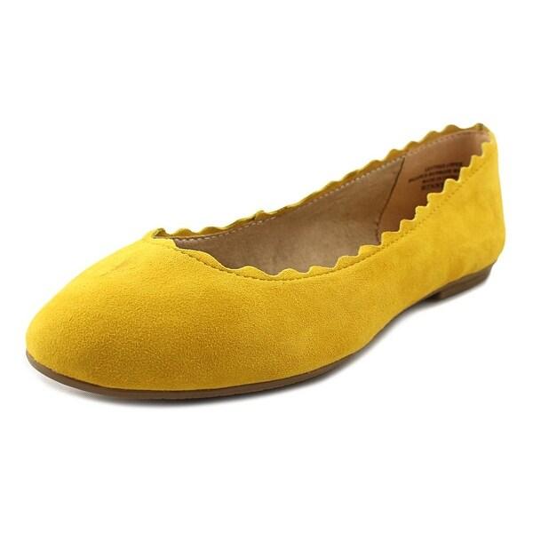 cc3dd7621478 Shop Audrey Brooke Winny Women Round Toe Suede Yellow Flats - Free ...