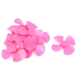 10 Pcs Fan Style Brushless Motor 4 Vanes RC Boat Airplane Propeller 3 DIY Pink