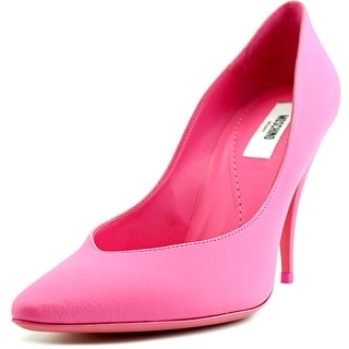 Moschino MA1009AC0KMK0620 Women Pointed Toe Leather Pink Heels