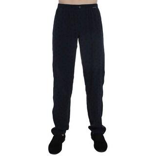 Dolce & Gabbana Dolce & Gabbana Blue SILK Pajama Lounge Pants - S