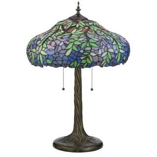 "Meyda Tiffany 119674 28"" H Duffner & Kimberly Laburnum Table Lamp - Blue - n/a"