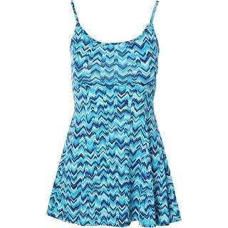Aqua Womens Chevron Sleeveless Sundress
