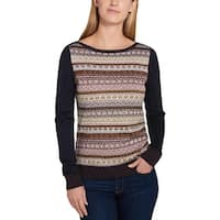 Tommy Hilfiger Womens Sweater Metallic Long Sleeves