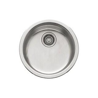 "Franke RBX 110 Rotondo 17-1/8"" x 17-1/8"" Single Basin Drop In 16-Gauge Stainless Steel Kitchen Sink"