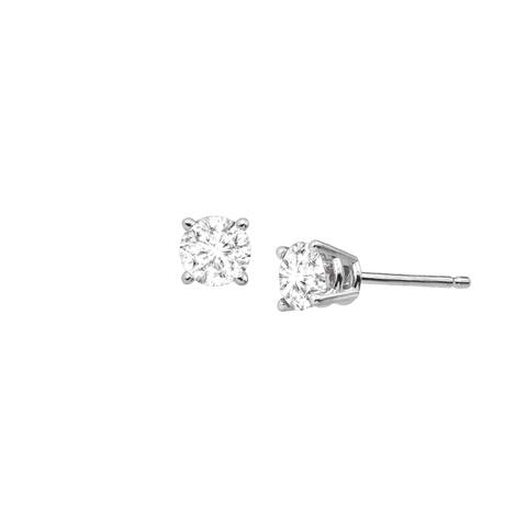 1/2 ct Diamond Stud Earrings in 14K White Gold