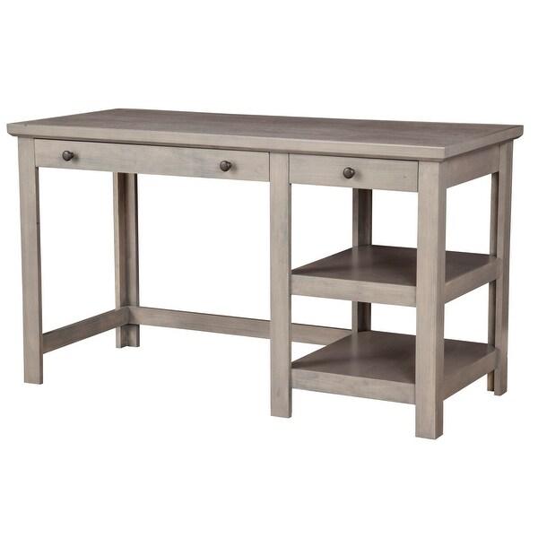 Origins by Alpine Ashville Wood Desk in Smokey Gray. Opens flyout.