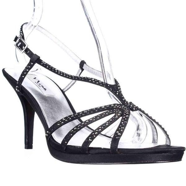 Nina Bobbie Evening Slingback Dress Sandals, Black
