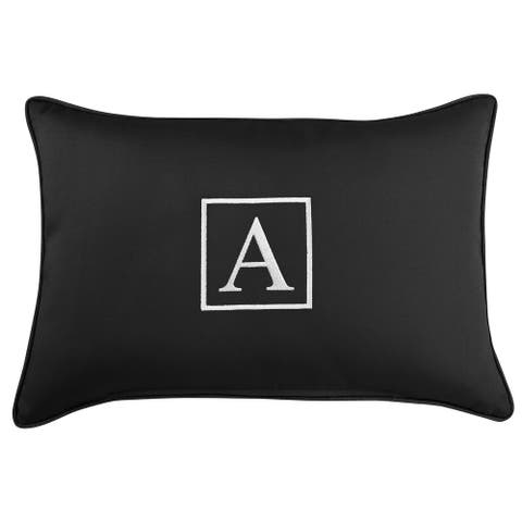 Monogram Corded Single Lumbar Pillow by Havenside Home