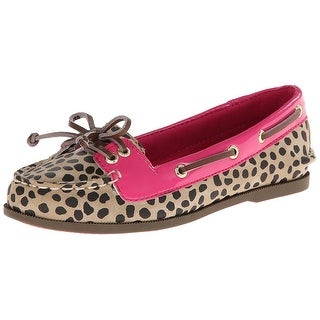 Sperry Girls Top-Sider Audrey Slip On Boat Shoes Flats Leopard/Pink - 2.5 m us little kid