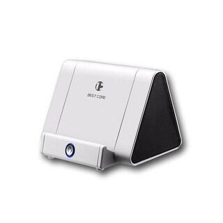 Indigi® Mini Wireless Alpine White Magic Portable iBoost Amplifying Induction Speaker - 750mAh - iOS or Android