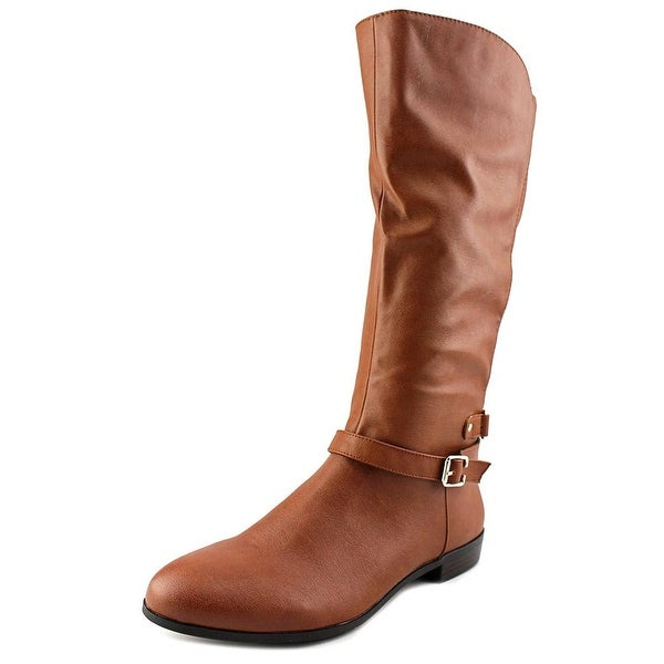 Style & Co Faee Women Round Toe Synthetic Tan Knee High Boot