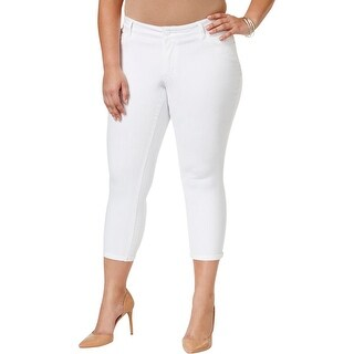 Jessica Simpson Womens Plus Cropped Jeans Skinny White wash